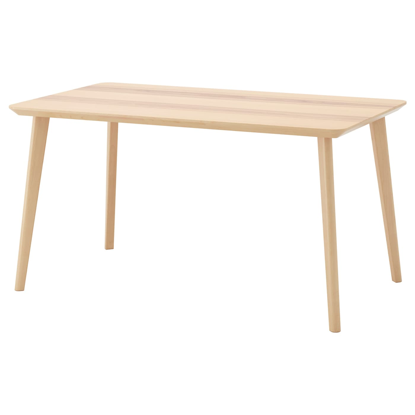Lisabo table ash veneer 140x78 cm ikea - Table a roulettes ikea ...