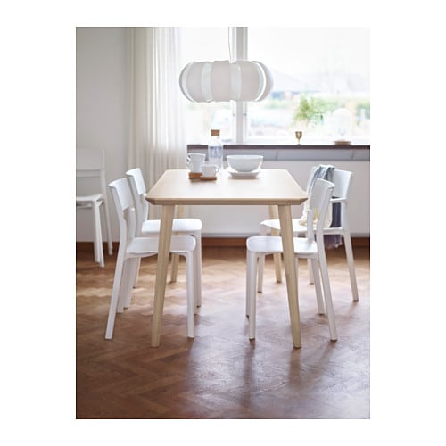 Lisabo table ash veneer 140x78 cm ikea for Table esprit scandinave