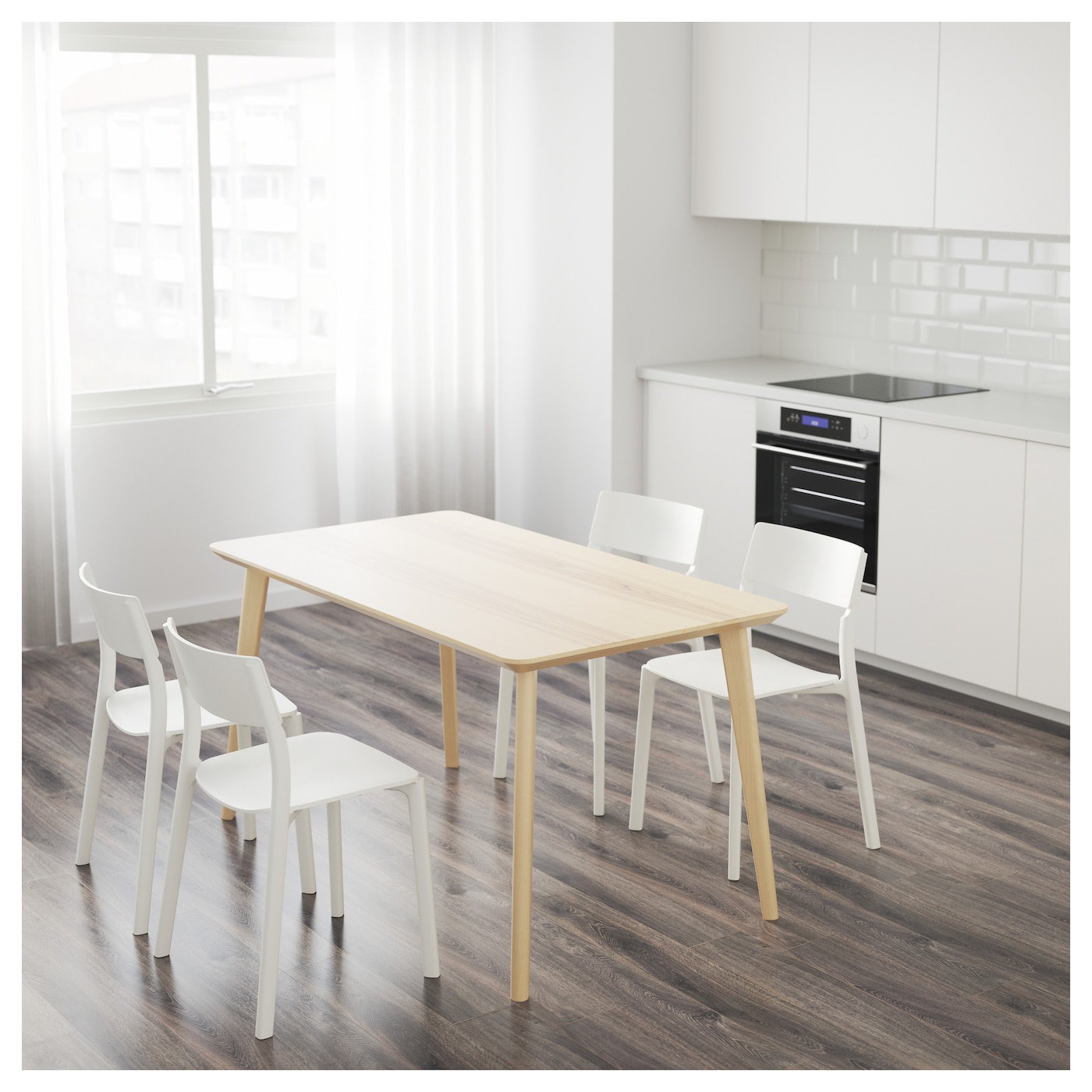 LISABO Table Ash veneer 140x78 cm IKEA