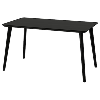 LISABO Table, black, 140x78 cm