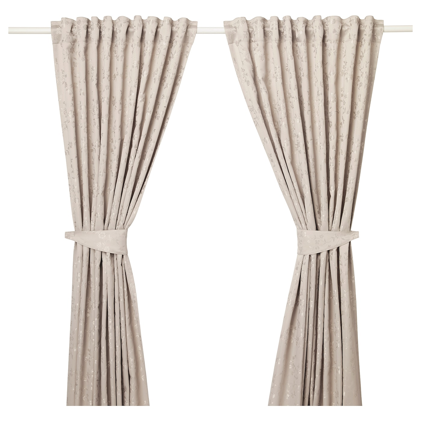 Ikea Lisabritt Curtains With Tie Backs 1 Pair