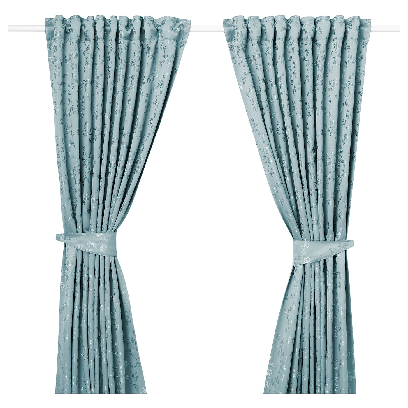 IKEA LISABRITT curtains with tie-backs, 1 pair