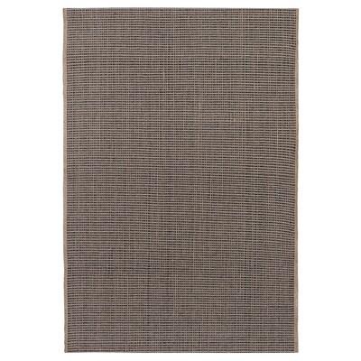 LISBJERG Rug, flatwoven, black/natural colour, 60x90 cm
