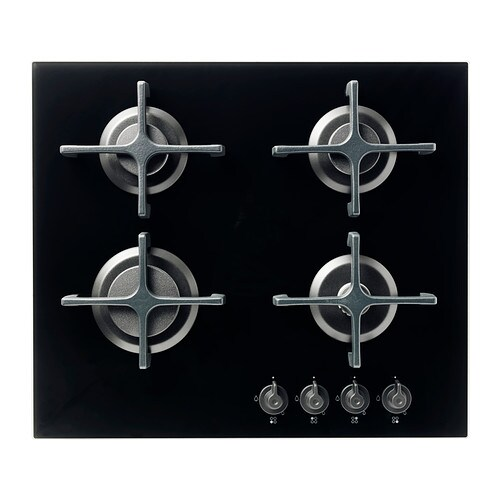 livsgnista gas hob glass black - ikea