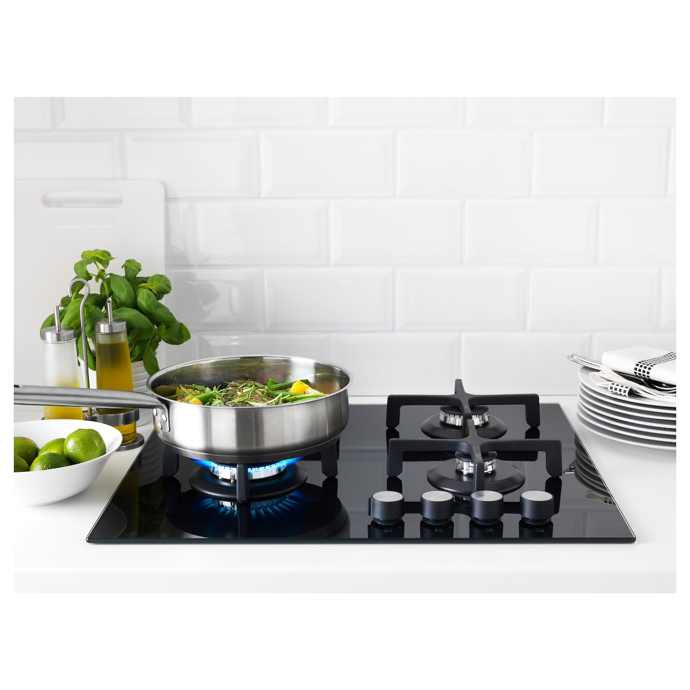 IKEA LIVSGNISTA gas hob 5 year guarantee. Read about the terms in the guarantee brochure.