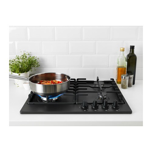 Livsl ga gas hob dark grey ikea for Piano cottura elettrico ikea