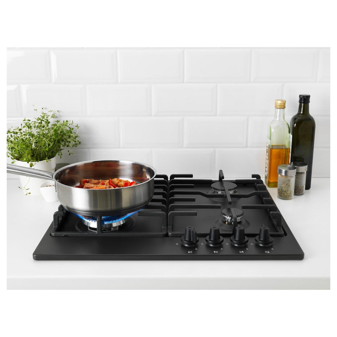 Kitchen Outlet Hob ~ LivslÅga gas hob dark grey ikea
