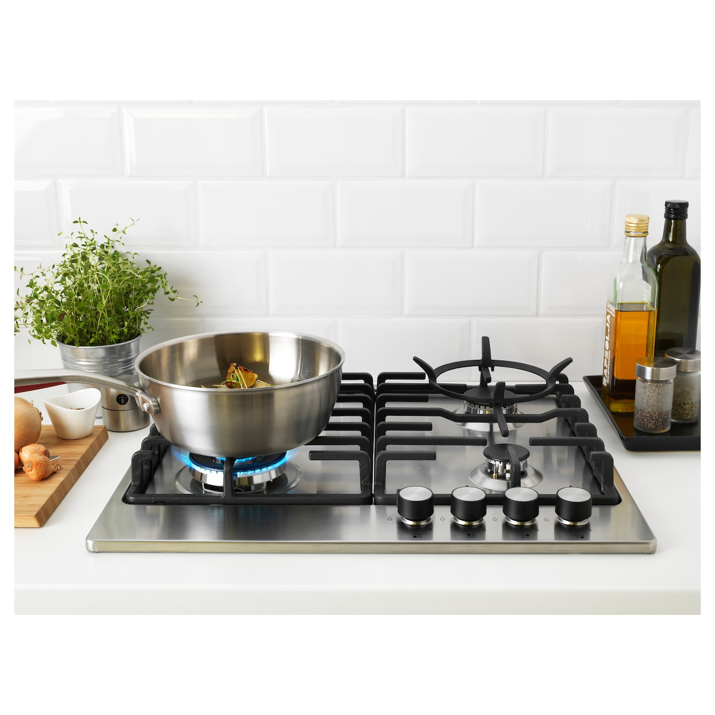 Kitchen Outlet Hob ~ LivslÅga gas hob stainless steel ikea