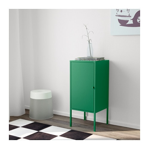 Lixhult cabinet metal green 35x60 cm ikea for Metal lockers ikea
