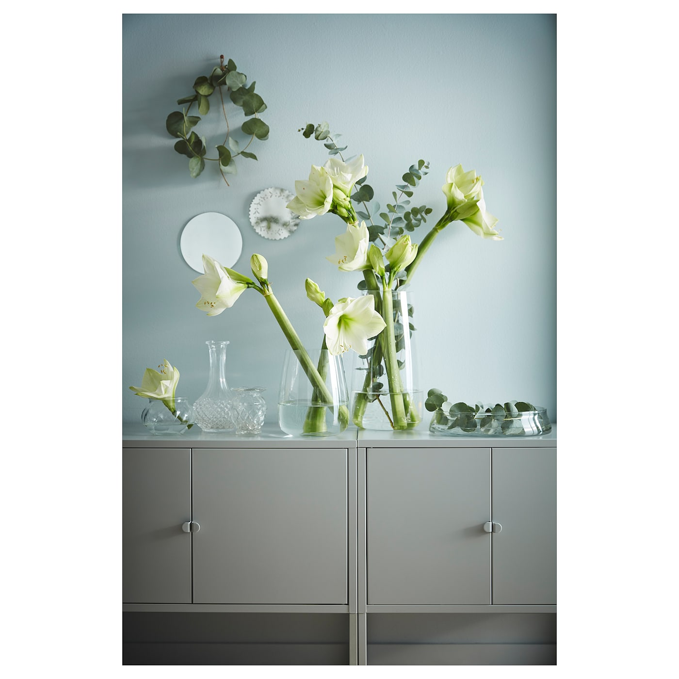 LIXHULT metal, grey, Cabinet, 60x35 cm