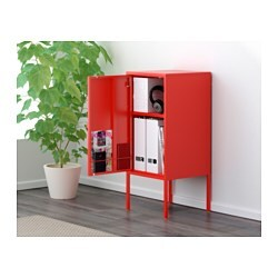 Lixhult cabinet metal red 35x60 cm ikea - Ikea armoire metallique ...