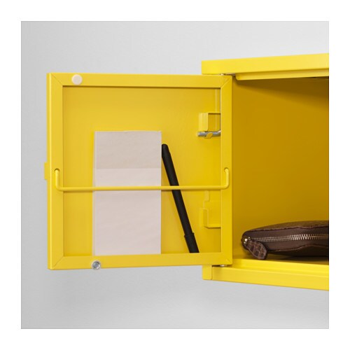 Lixhult Cabinet: LIXHULT Cabinet Metal/yellow 25x25 Cm