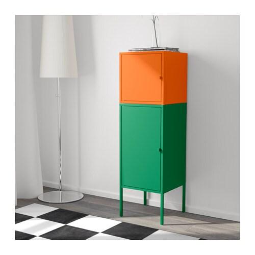 LIXHULT Storage combination Greenorange 35×117 cm  IKEA -> Ikea Wandregal Orange