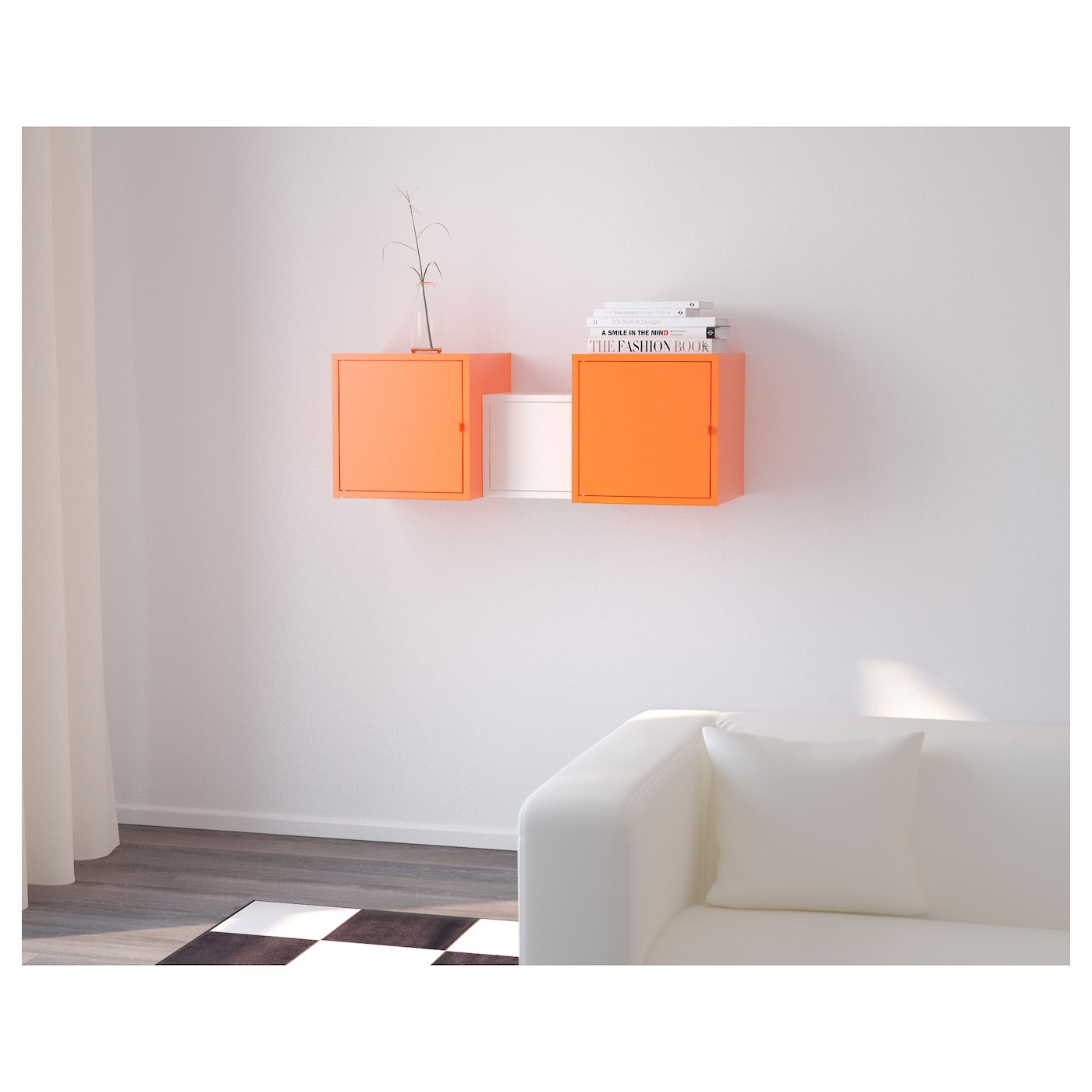LIXHULT Storage combination Orangewhite 100×35 cm  IKEA