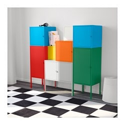 lixhult storage combination white green blue yellow red orange grey 130x117 cm ikea. Black Bedroom Furniture Sets. Home Design Ideas