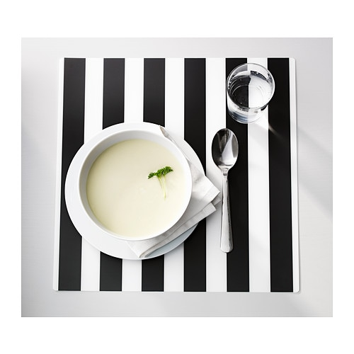IKEA LJUDA place mat Protects the table top surface and reduces noise from plates and cutlery.