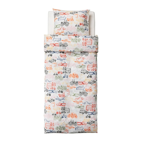 IKEA LJUDLIG quilt cover and pillowcase Cotton, soft and nice against your child's skin.