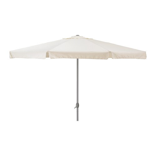 IKEA LJUSTERÖ parasol The parasol is easy to open or close by using the crank.