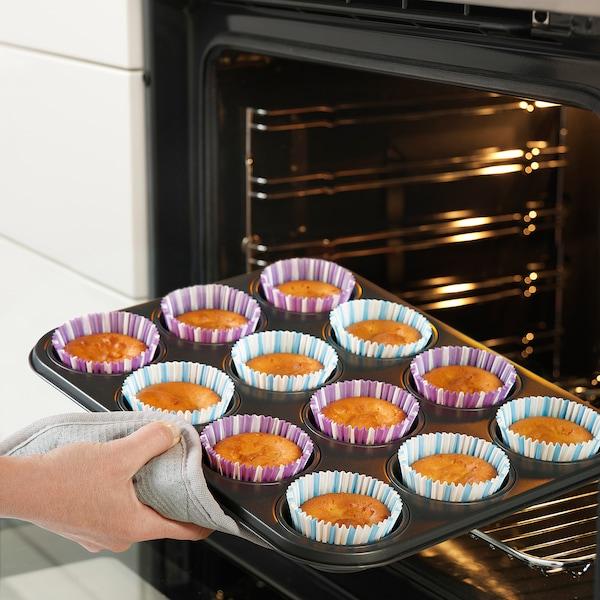 LOCKBETE muffin tin with lid black 35 cm 27 cm 3 cm 12 pack