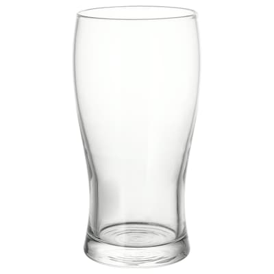 LODRÄT Beer glass, clear glass, 50 cl
