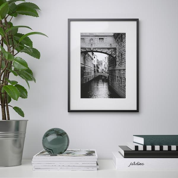 LOMVIKEN Frame, black, 30x40 cm