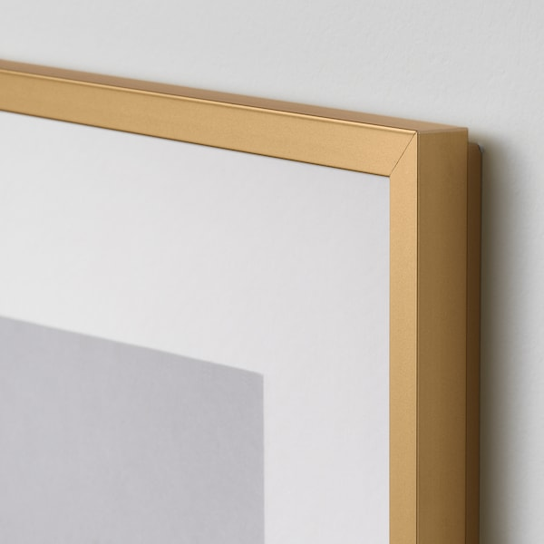 LOMVIKEN Frame, gold-colour, 61x91 cm