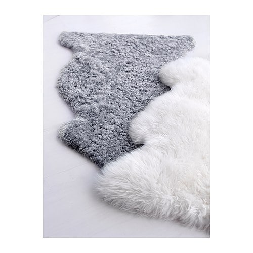 Ludde sheepskin grey ikea for Lambskin rug ikea