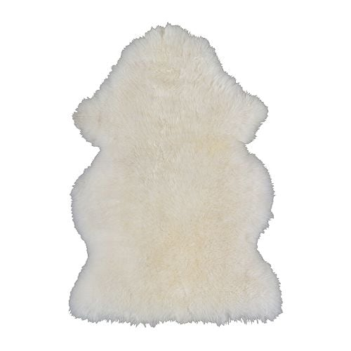 IKEA LUDDE sheepskin Wool is soil-repellent and hard-wearing.