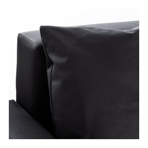 Lugnvik sofa bed with chaise longue gran n black ikea for Chaise longue sofa bed ikea