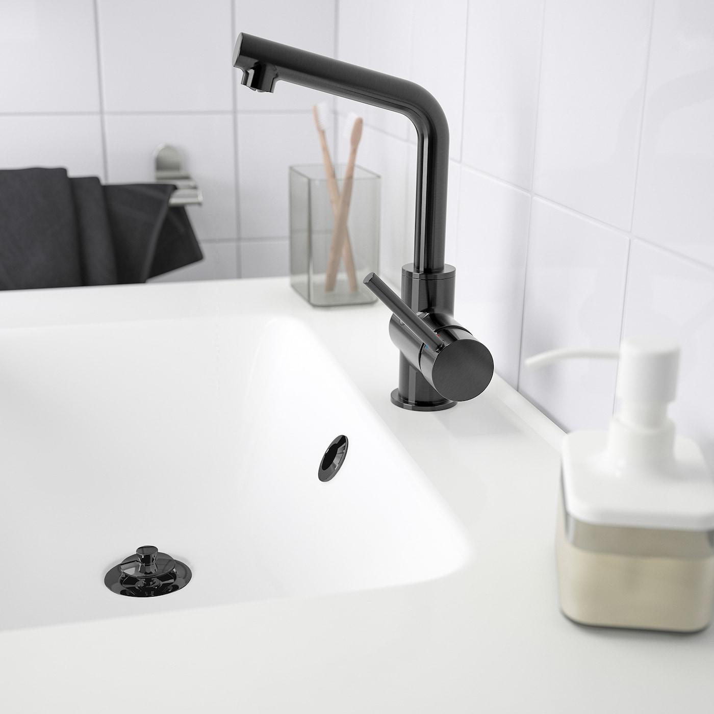 LUNDSKÄR Wash-basin mixer tap with strainer, black
