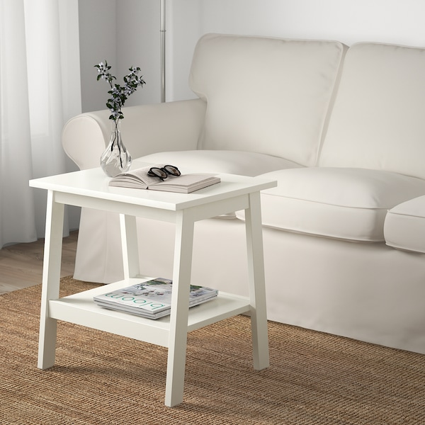 LUNNARP Side table, white, 55x45 cm