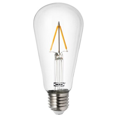 LUNNOM LED bulb E27 100 lumen, drop-shaped clear