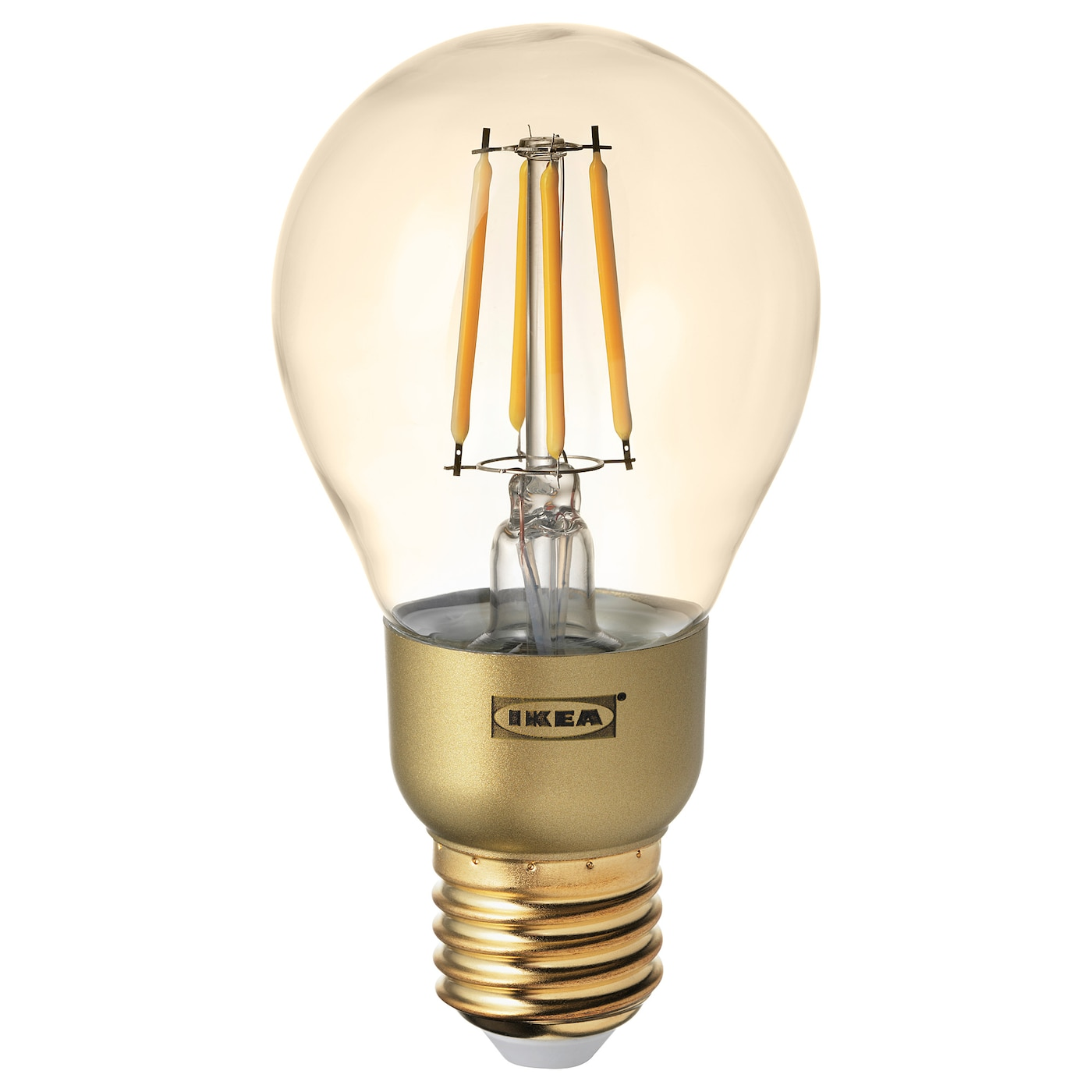 LUNNOM LED bulb E27 400 lumen Dimmable/globe brown clear glass 60 mm ...