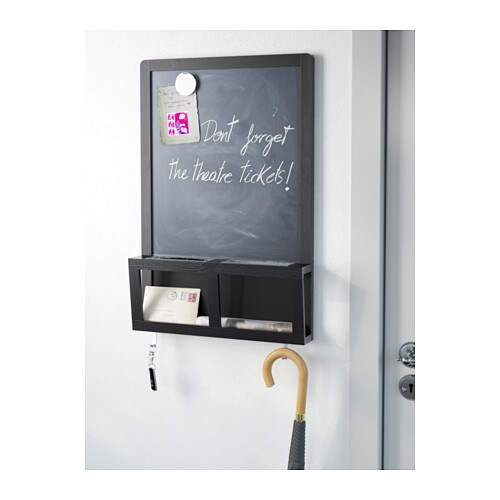 Luns writing magnetic board black 48x71 cm ikea - Tableau magnetique ikea ...