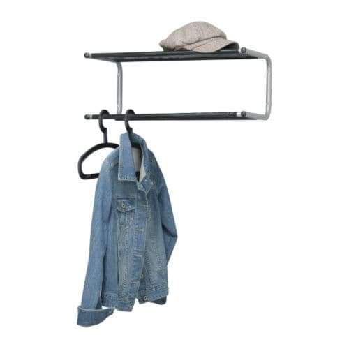 Ikea lustifik wall mountable tidy stand hat shoe coat rack for Ikea coat and hat rack