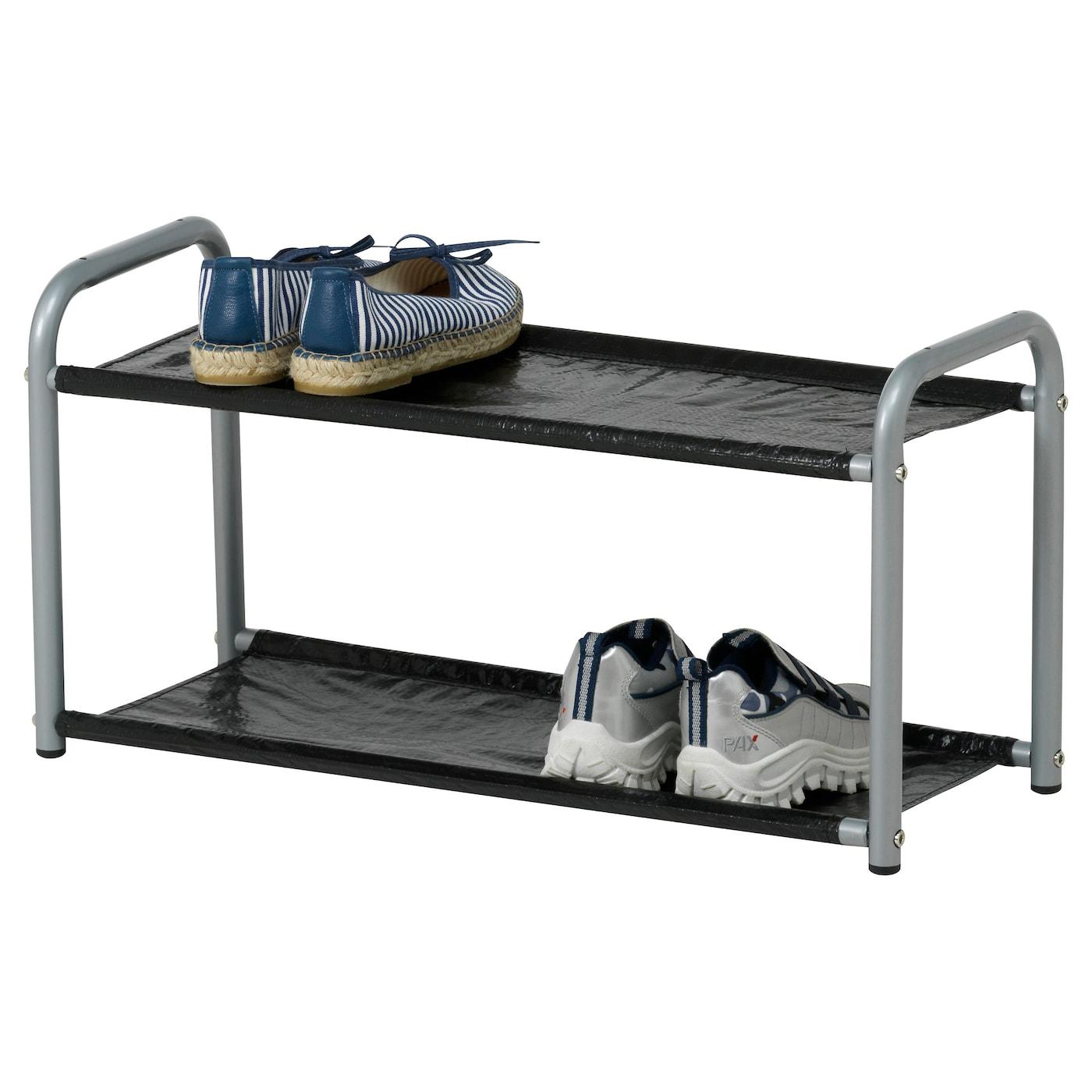 Lustifik Hat Shoe Rack Silver Colour Black 60 Cm Ikea