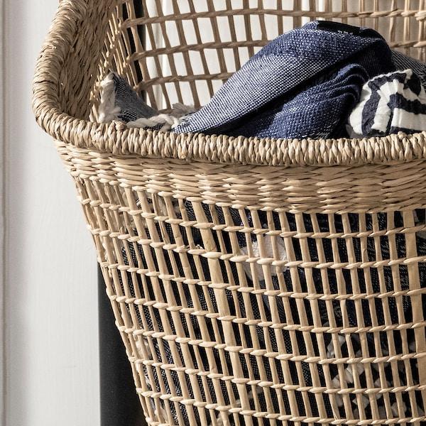 LUSTIGKURRE Basket, natural seagrass, 30x20x35 cm