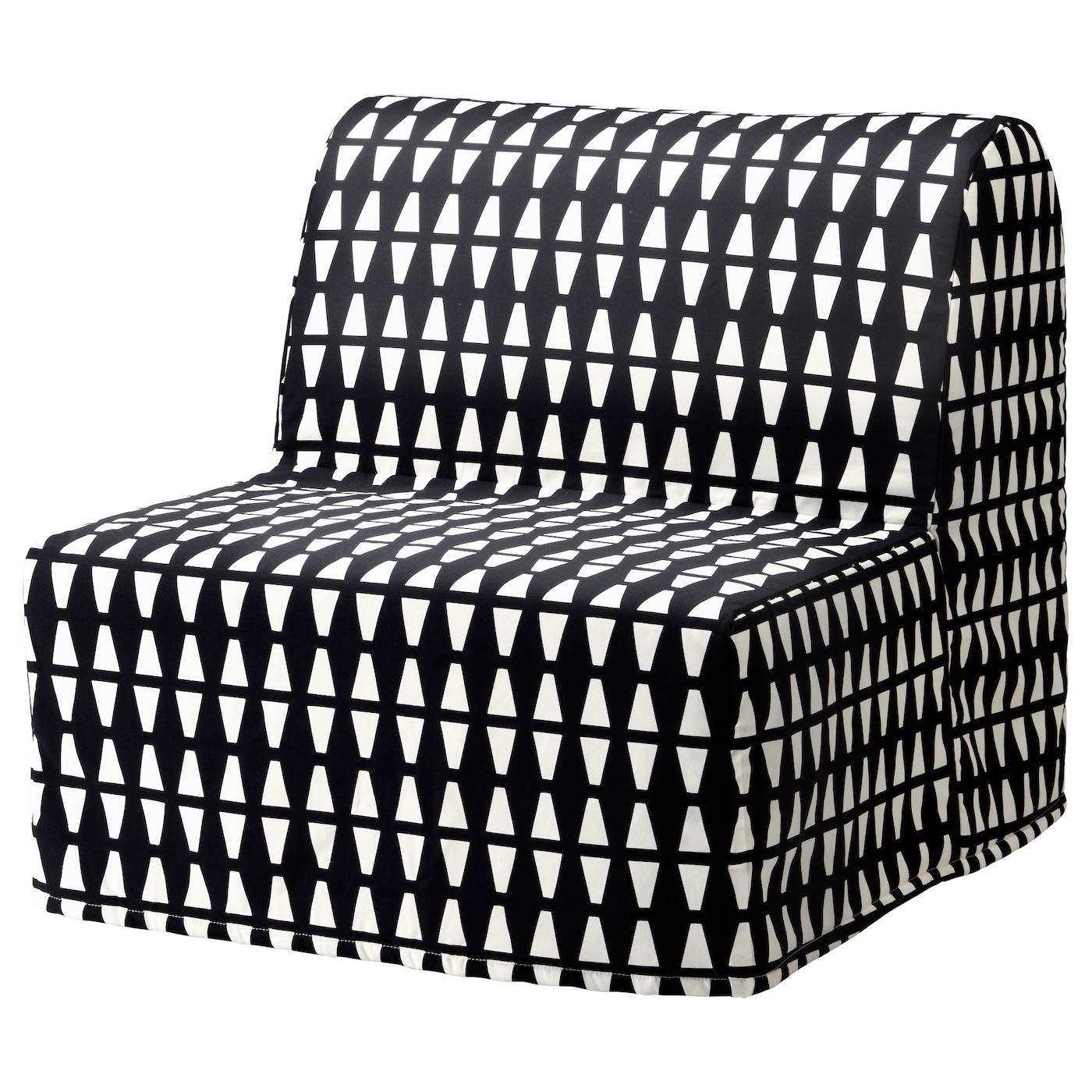IKEA LYCKSELE HÅVET Chair Bed Cover Made Of Durable Cotton With A Geometric  Pattern.