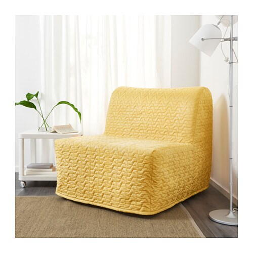 Lycksele h vet chair bed vallarum yellow ikea for Ikea armchair bed
