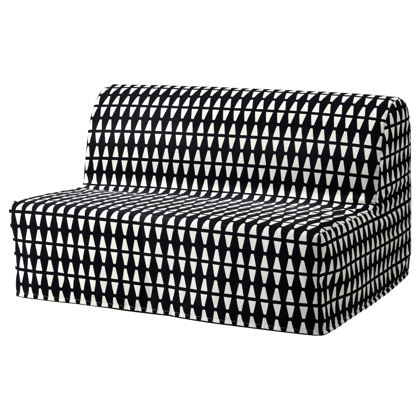 Lycksele h vet two seat sofa bed ebbarp black white ikea for White divan bed