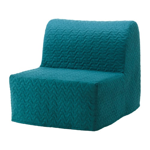 Lycksele h vet chair bed vallarum turquoise ikea for Housse pour sofa