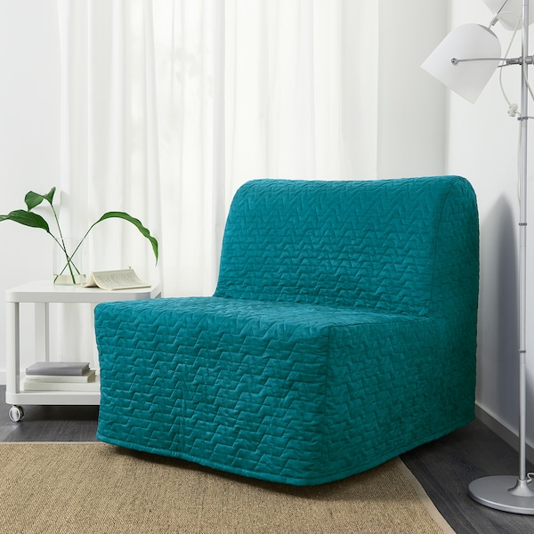 LYCKSELE HÅVET Chair-bed - Vallarum turquoise - IKEA