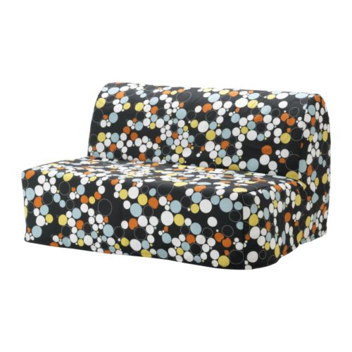 LYCKSELE HÅVET Two-seat sofa-bed IKEA The cover is easy to keep clean as it is removable and can be machine washed.