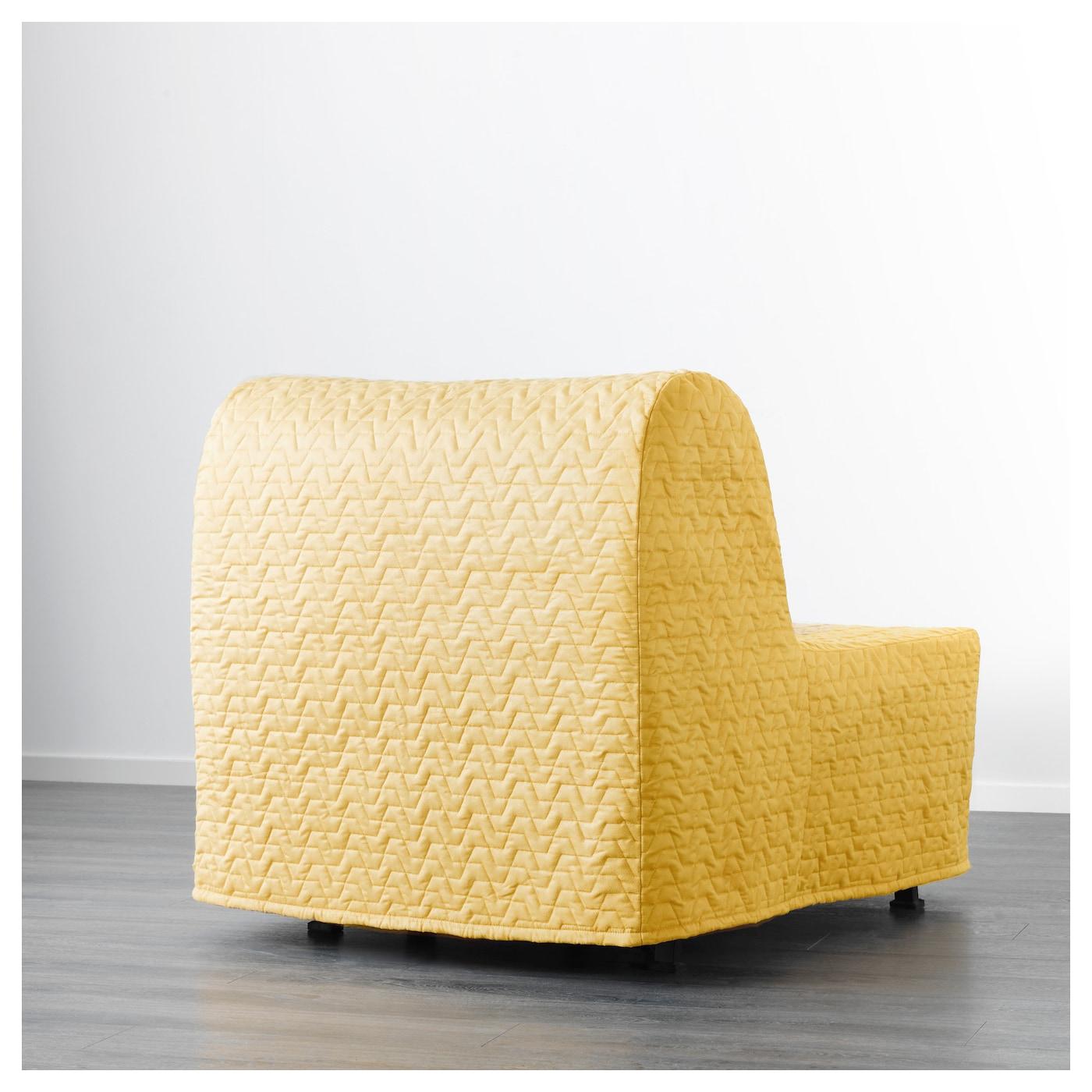 lycksele murbo chair bed vallarum yellow ikea