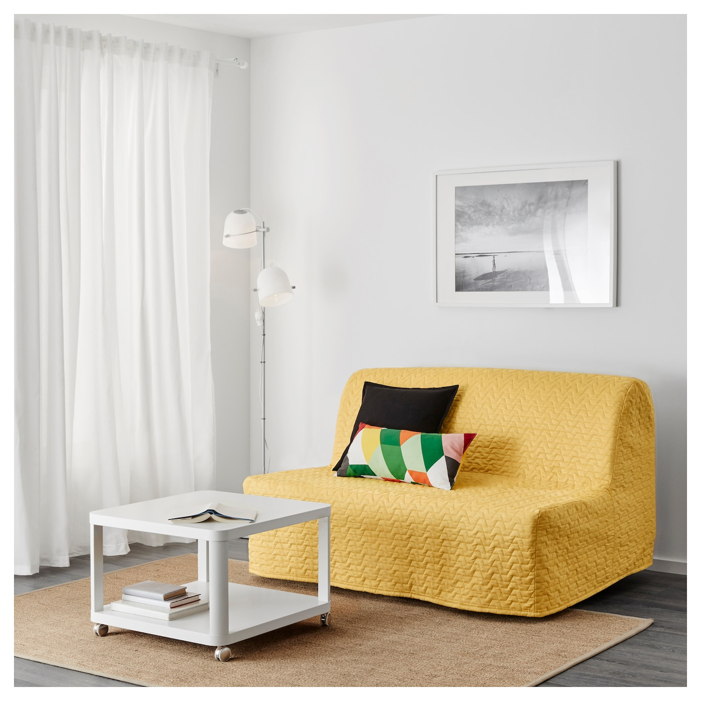 Lycksele Murbo Two Seat Sofa Bed Vallarum Yellow Ikea