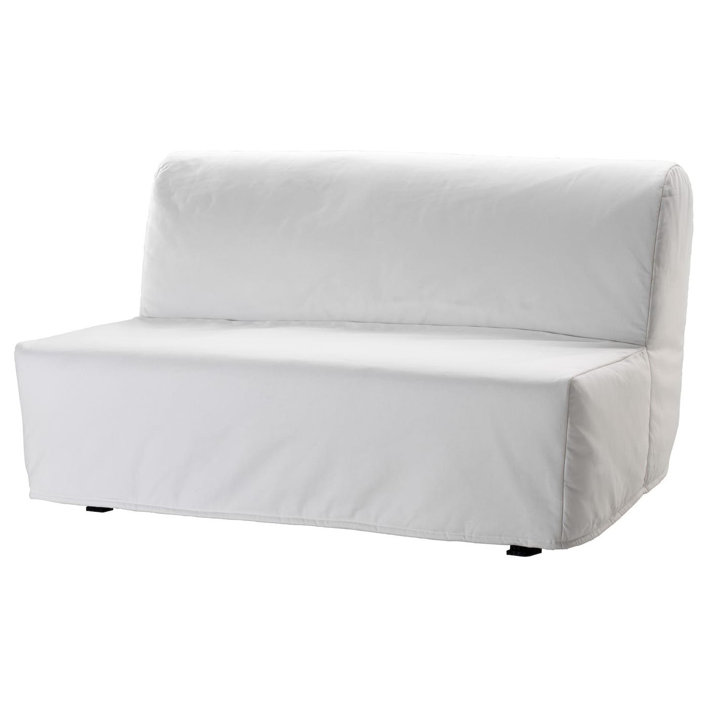 Lycksele two seat sofa bed cover ransta white ikea for White divan chair