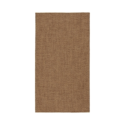 LYDERSHOLM Rug flatwoven, in/outdoor, medium brown, 80x150 cm
