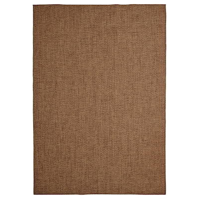 LYDERSHOLM Rug flatwoven, in/outdoor, medium brown, 160x230 cm