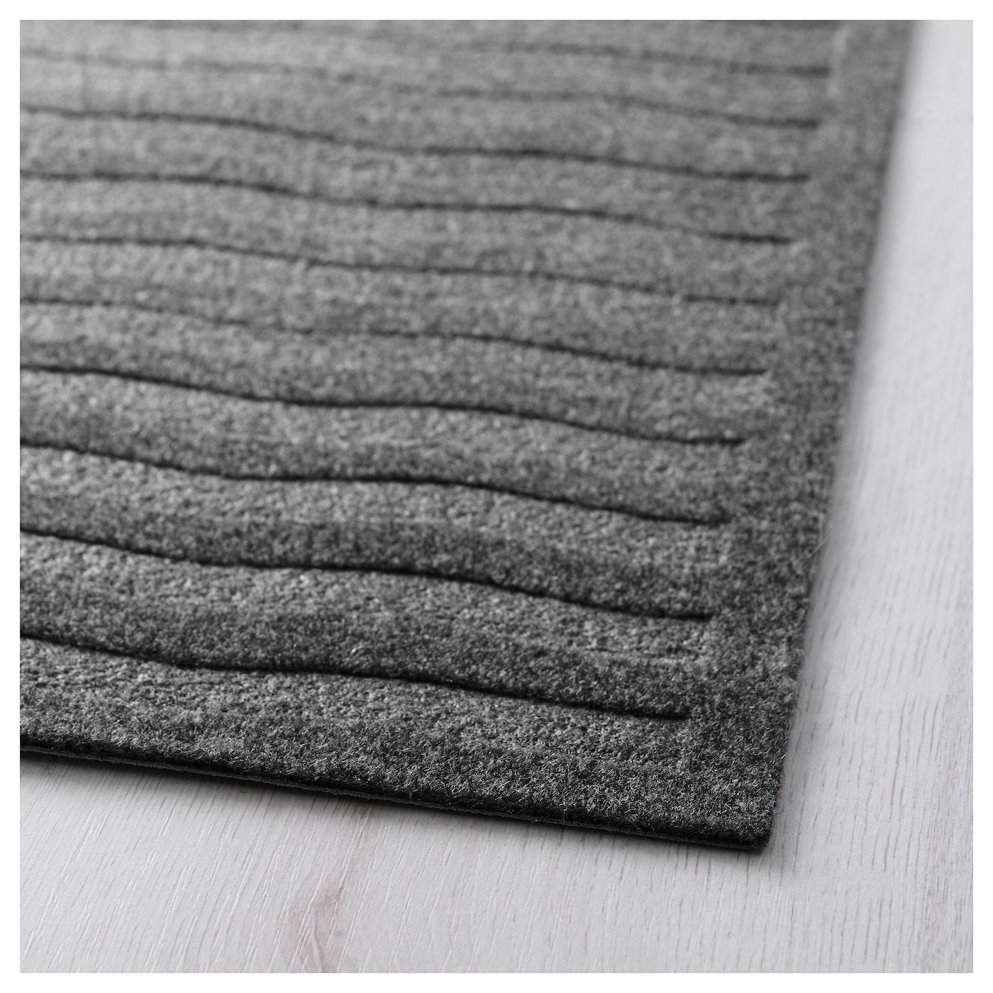 lyn s rug flatwoven dark grey 65x198 cm ikea. Black Bedroom Furniture Sets. Home Design Ideas