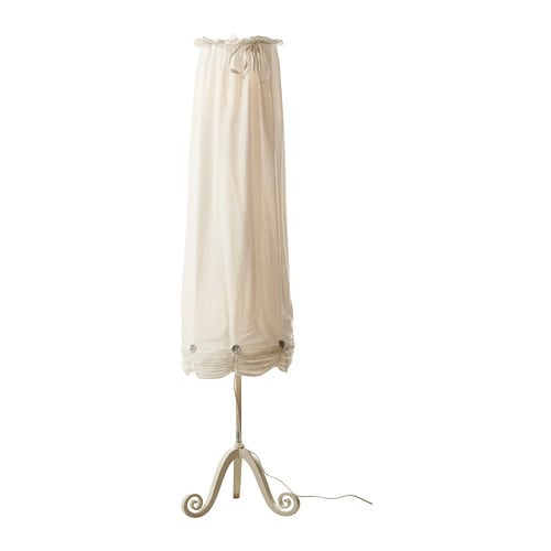 LYRIK Floor lamp IKEA The lamp has a sculptural expression and brings a softness to the room.